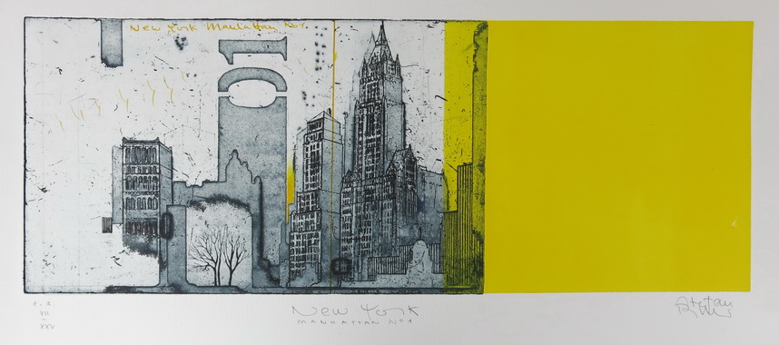 Manhattan 1 / Stefan Becker / Original Radierung